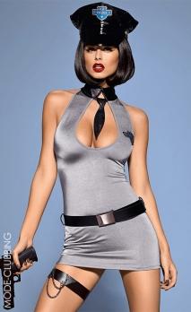 Costume gris de policière 5 pièces