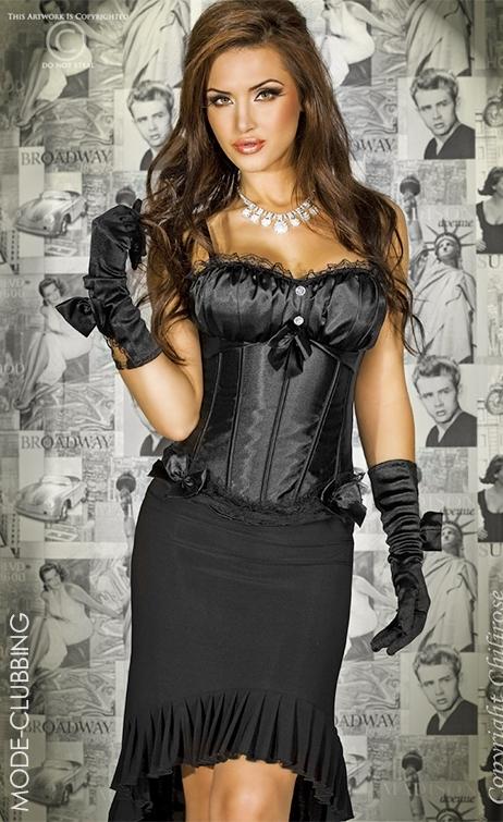 Sublime corset noir satiné