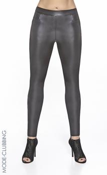 Leggings noirs effet vinyle Beyley