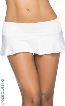 Micro jupe blanche à volants