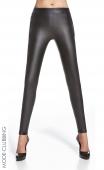 Leggings noirs simili-cuir à zips Ester