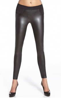 Leggings noirs mi-opaques, mi-brillants Ingrid