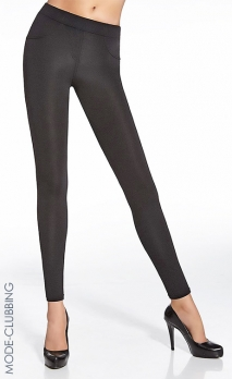 Leggings noir brillant forme jeans