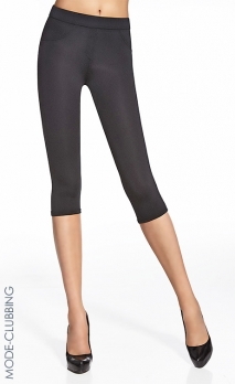 Leggings courts noir brillant Marika Short