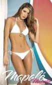 Bikini string blanc tour de cou