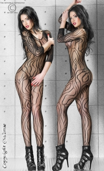 Combinaison noire bodystocking waves