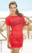 Robe de plage corail crochet
