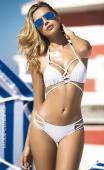 Bikini blanc à lanières croisées