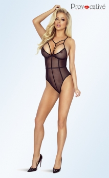 Body noir transparent strappy