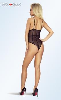Body noir transparent strappy