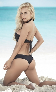 Bikini noir tour de cou